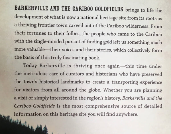 BARKERVILLE AND THE CARIBOO GOLDFIELDS - BOOK