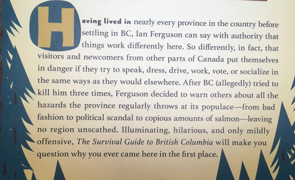 THE SURVIVAL GUIDE TO BRITISH COLUMBIA - BOOK
