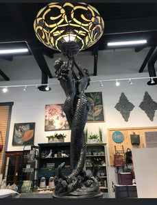 TWO MERMAIDS - TIFFANNY STYLE LAMP