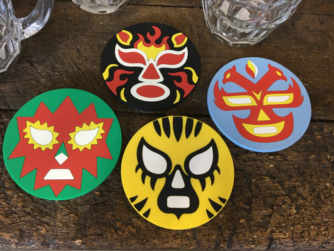 LUCHA LIBRE COASTER SET