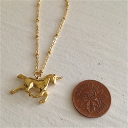 ASTRA TINY UNICORN NECKLACE - GOLD