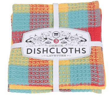 DISHCLOTH SET - CHECK LEMON
