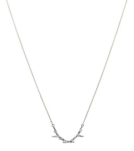 TINY ANTLER NECKLACE - SILVER