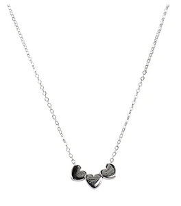 TRIPLE HEART NECKLACE - SILVER