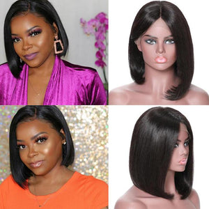 Perruque de Cheveux Lace Bob Wig Lisses (Straight)