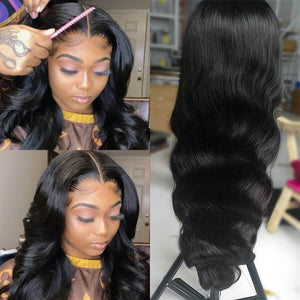 Perruque de Cheveux 360 Lace Frontal Wig Ondulés (Body Wave)