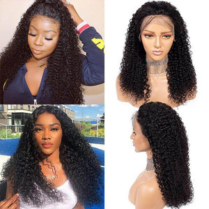 Perruque de Cheveux 13×4 Lace Front Wig Bouclés (Jerry Curly)