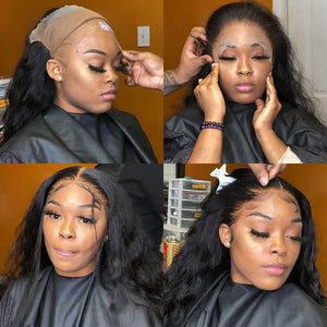 Perruque de Cheveux 360 Lace Frontal Wig Ondulés (Loose Wave)