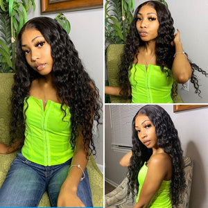 Perruque de Cheveux 4×4 Lace Closure Wig Ondulés (Loose Wave)