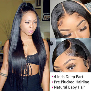 Perruque de Cheveux 13×4 Lace Front Wig Lisses (Straight)