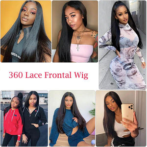 Perruque de Cheveux 360 Lace Frontal Wig Lisses (Straight)