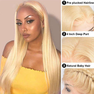 Perruque Lace Front Wig Lisses (Straight) #613 Blonde
