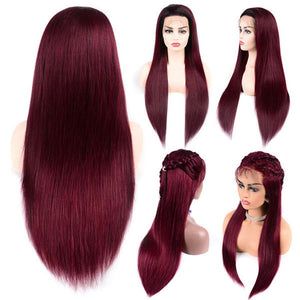 Perruque Lace Front Wig Lisses (Straight) #99J Burgundy