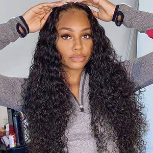 Perruque de Cheveux 360 Lace Frontal Wig Bouclés (Water Wave)