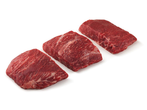 USDA PRIME Frozen Flat Iron Steak Individually Vac-Packed (10 oz. each, 10 lb. Case) - Sold Out