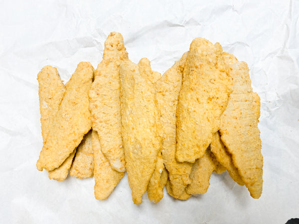 Frozen Walleye Fillets (5 oz) Beer Battered & Individually Quick-Frozen