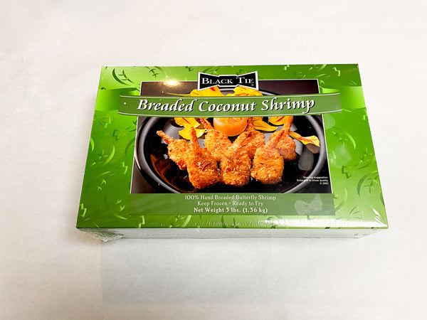 Breaded Coconut Shrimp (12 pound case of four boxes)