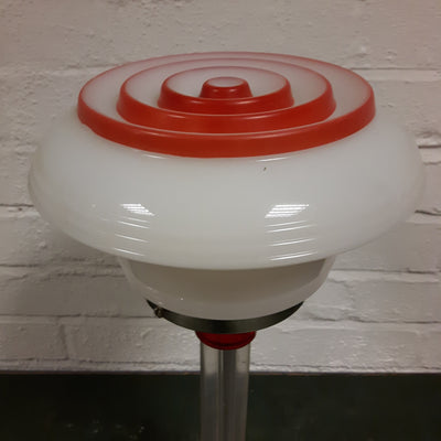 Lucite Lamp With Glass Globe