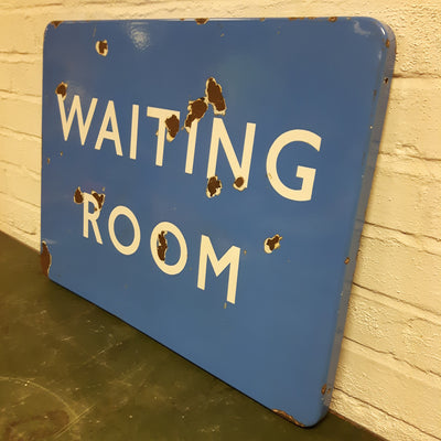 Enamel British Rail Waiting Room Sign