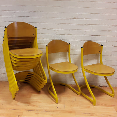 French Stacking Cafe Chairs