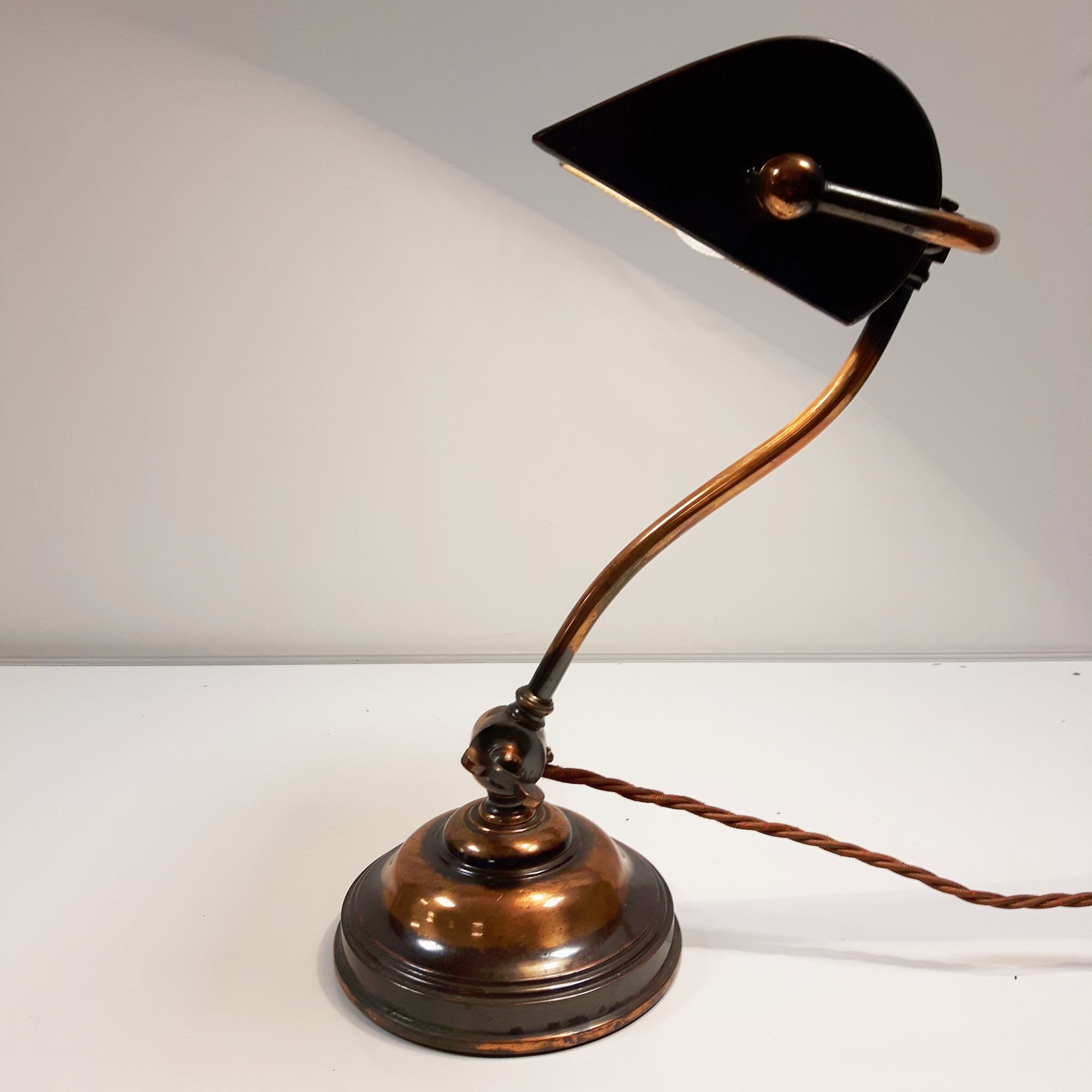 brass signed decorappealing greenalite ideen decor desk s plus trend bankers as alluring lamp home banker shade green to model apply john lewis antique appealing your