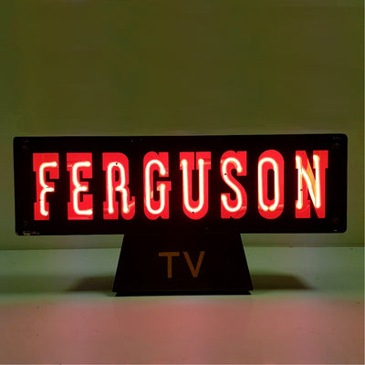 Ferguson TV Neon Sign