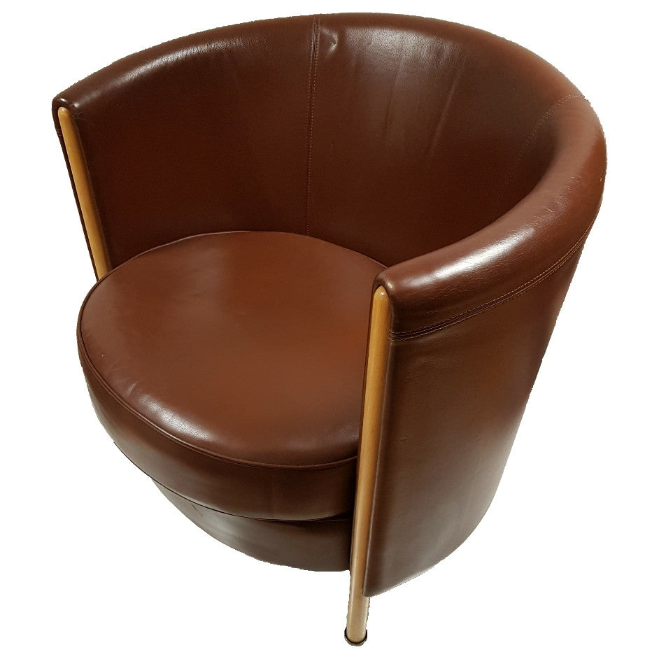 Moroso Tub Leather Chairs