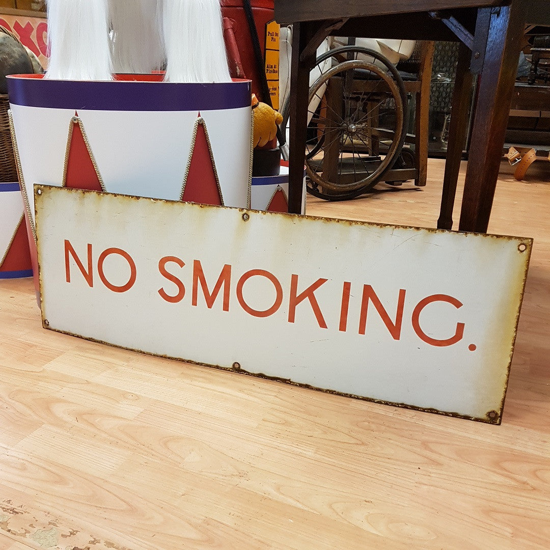 NO SMOKING Enamel Sign