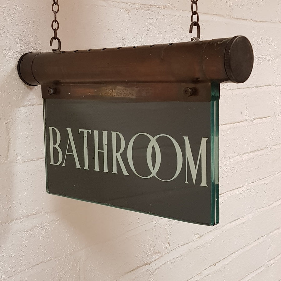 Hanging Illuminated Bathroom Sign