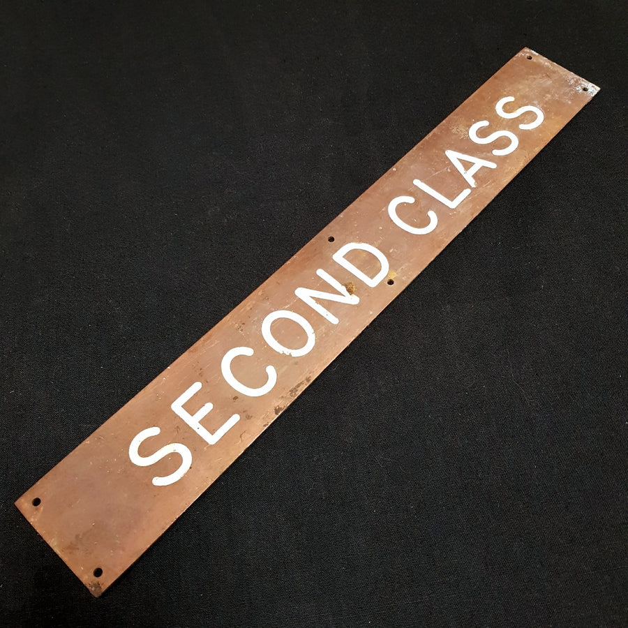 Second Class Sign