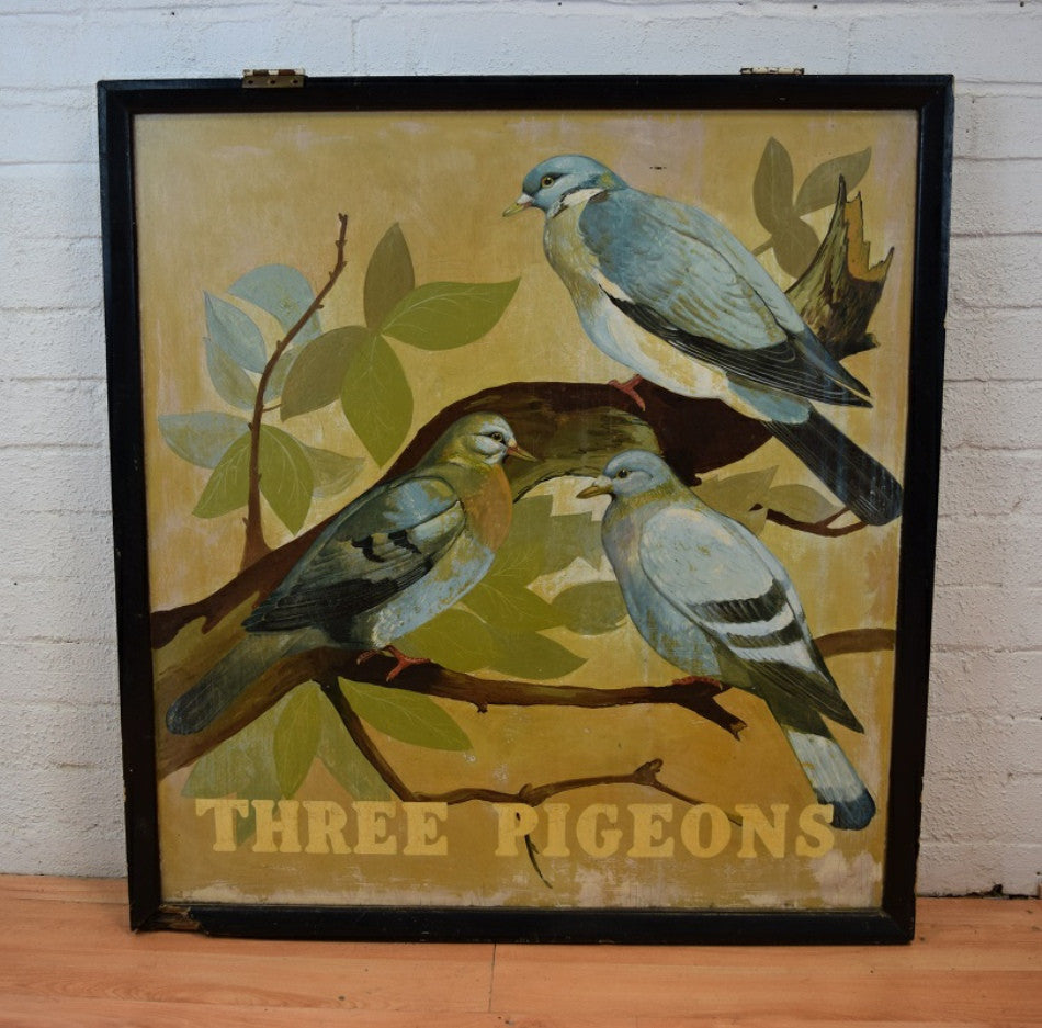 Pub sign (Three Pigeons)