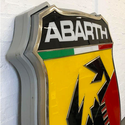 Abarth Dealership Sign