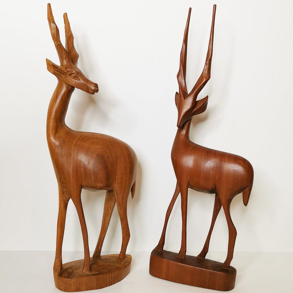 Midcentury Carved Wood Figures