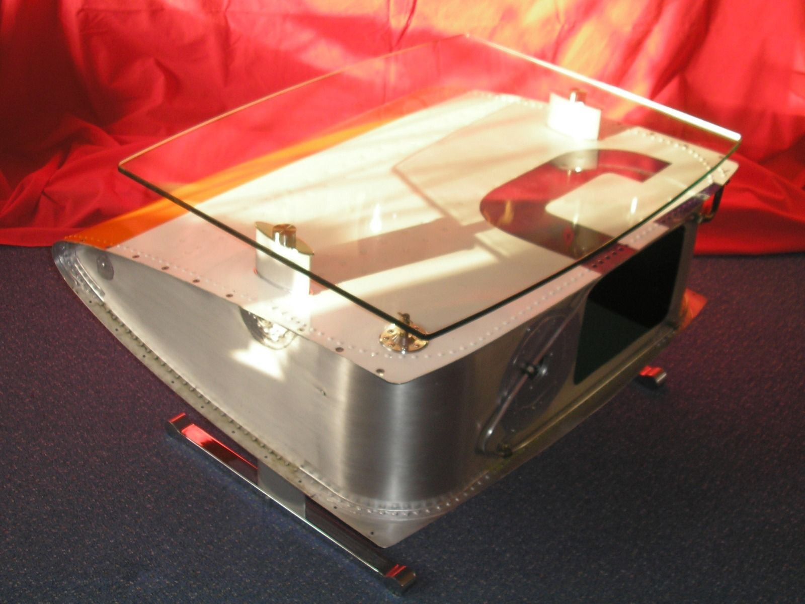aircraft wing tank coffee table | home alchemy | interiors and props