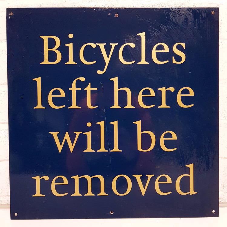 Bicycle Thief Sign