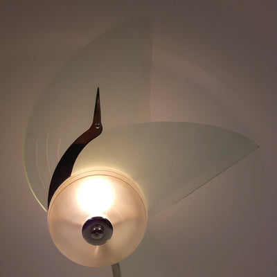 Glass Bird Lamp