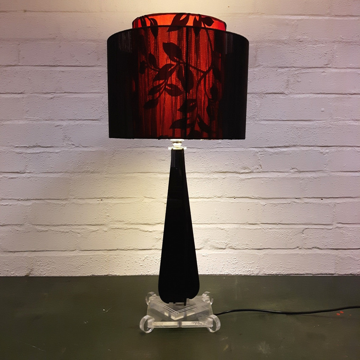 Mid Century Lucite Table Lamp