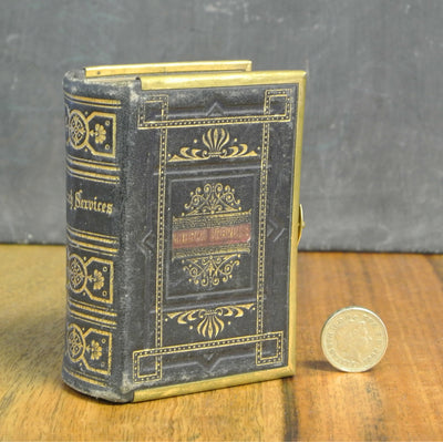 Leather bound church service book