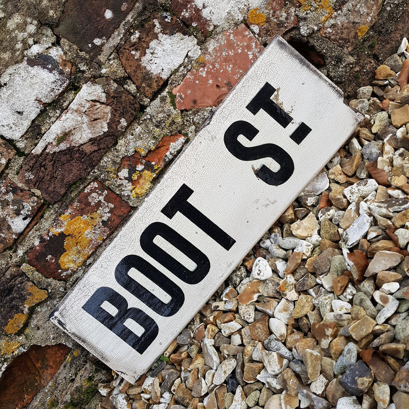 Boot Street Sign