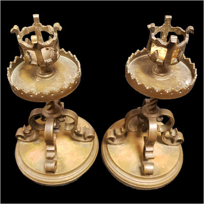Decorative Brass Candlesticks