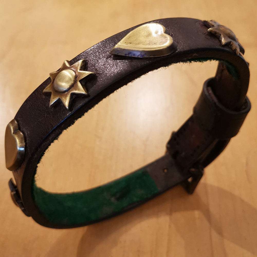 Edwardian Leather Dog Collar