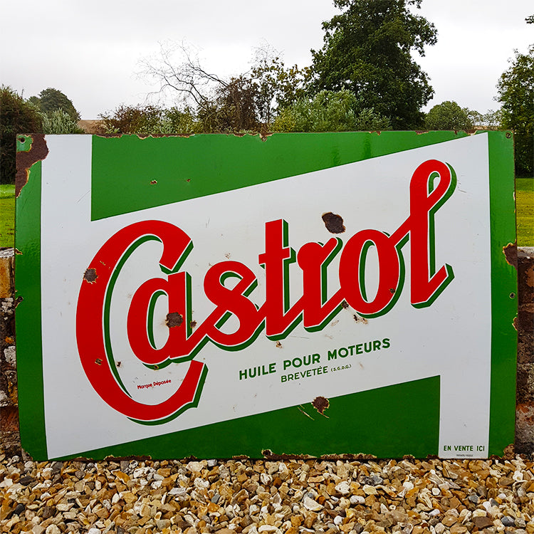 Castrol Enamel Sign