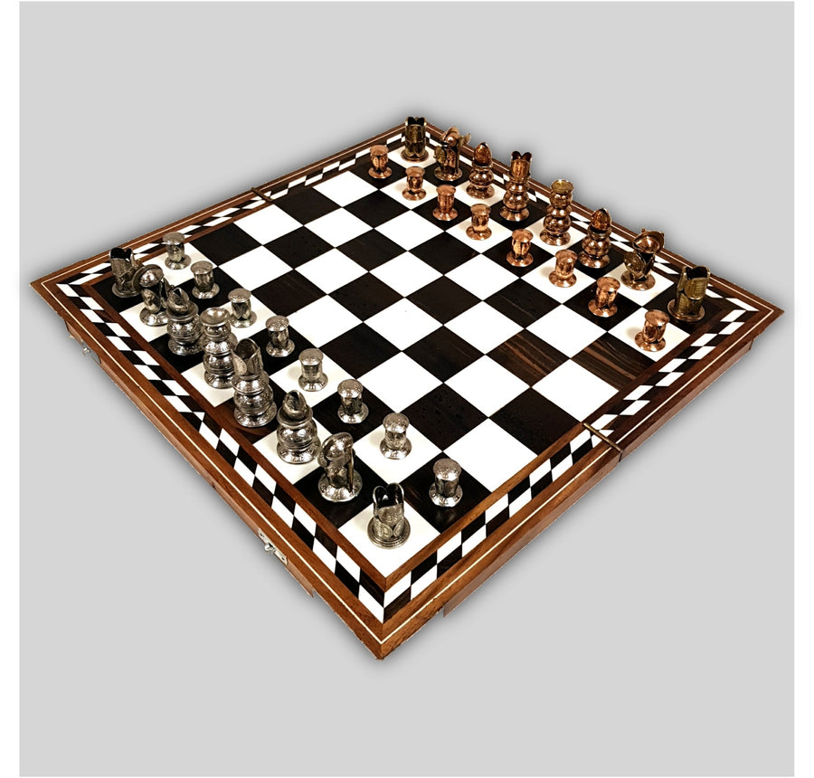 Wooden Inlaid Chess Board