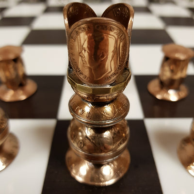 Handcrafted Coin Chess Set - Home Alchemy