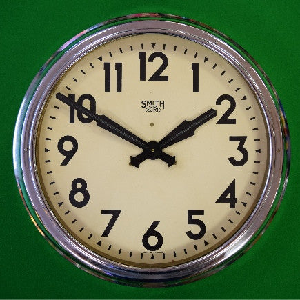 Large Industrial Smith Sectric Wall Clock