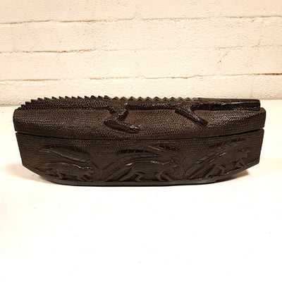 Primitive Carved Hardwood Box