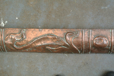 Art Nouveau Copper Hearth Surround