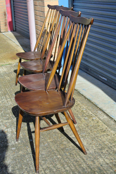 Ercol Goldsmith High Stick Back dining chairs