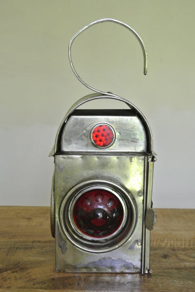 American 1940's industrial candle lantern