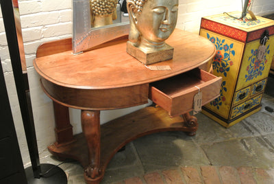 Stunning vintage Walnut veneered console table